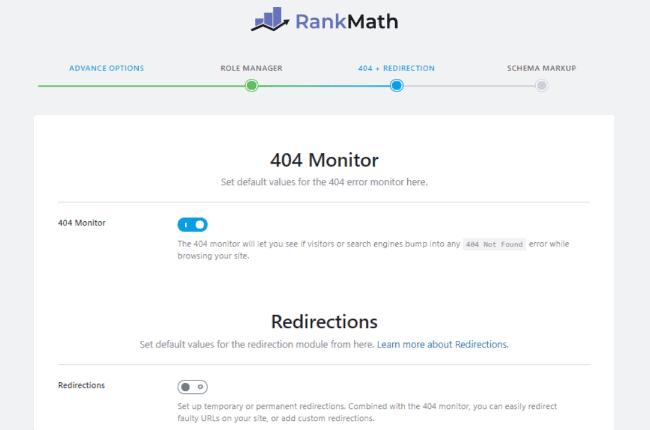 Rank Math redirection