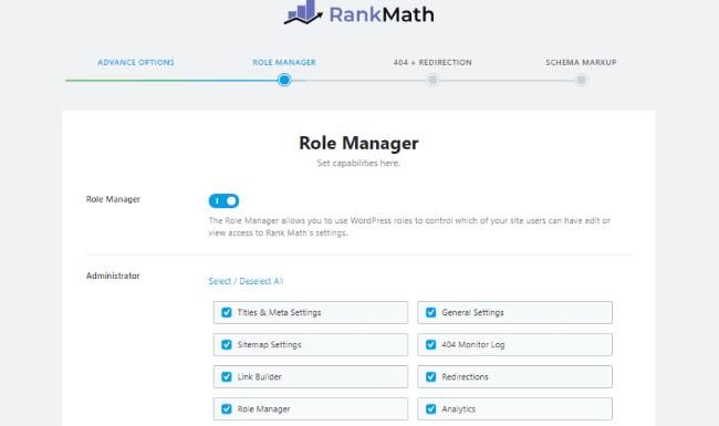 Rank Math Role